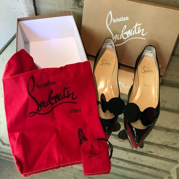 72b51345478e Christian Louboutin Shoes - Louboutin Madame Mouse Black Patent Pumps